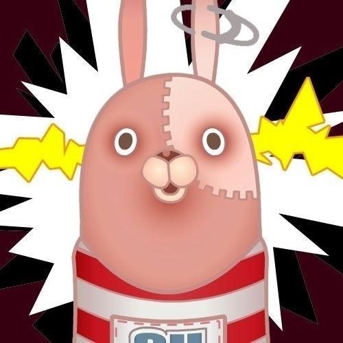 越狱兔——粉色,缝补痕迹.这货是有得卖的.图片