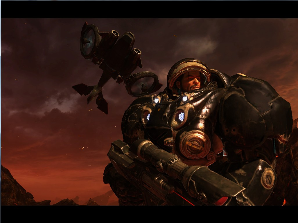 星际争霸2自由之翼里面 雷诺救那个老将军有个片段是