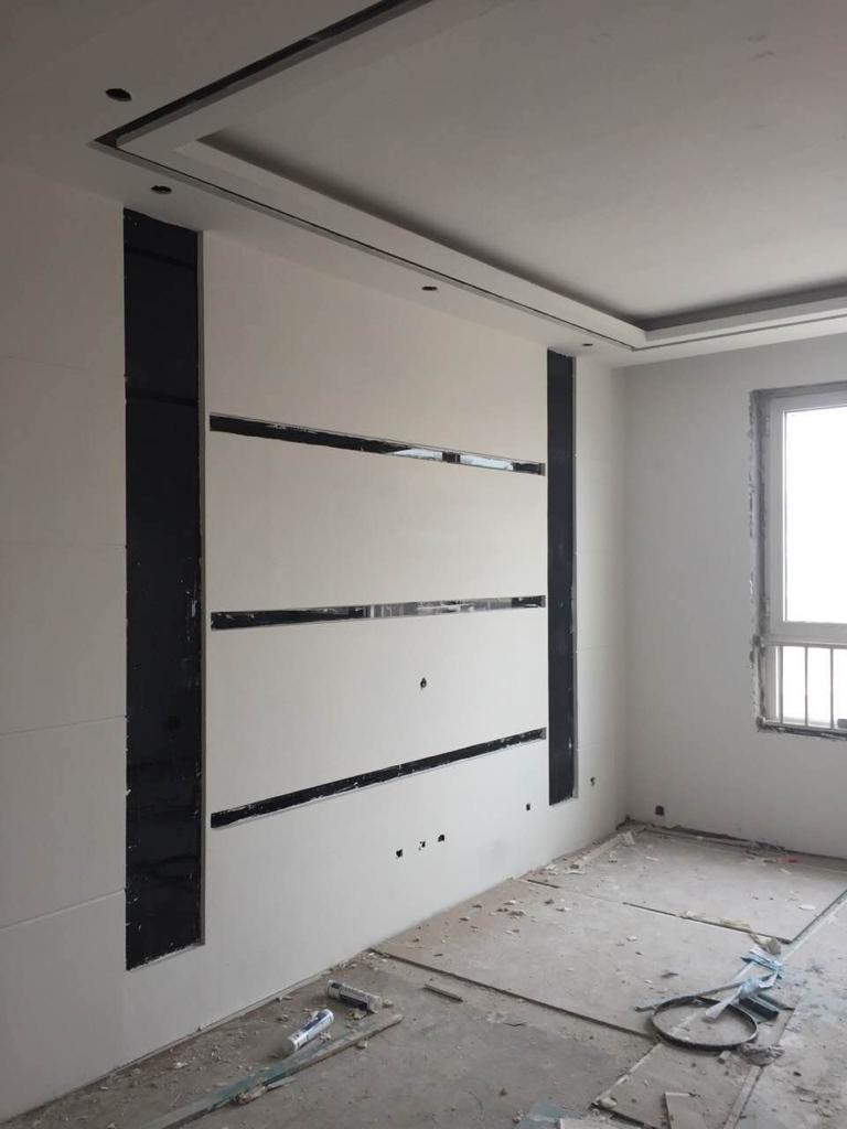 客厅背景墙黑色玻璃边框配什么颜色效果好?