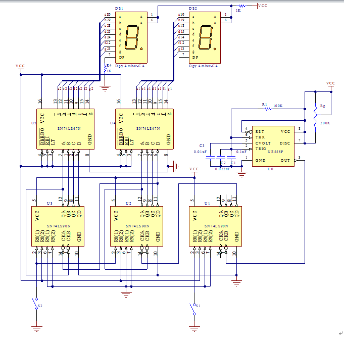 关于数字秒表的数字电路课程设计