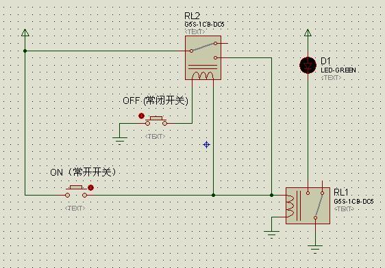 怎样用两个点动开关,2个继电器,控制电路的通断