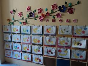 幼儿园,美术作品展示墙怎么设计图片
