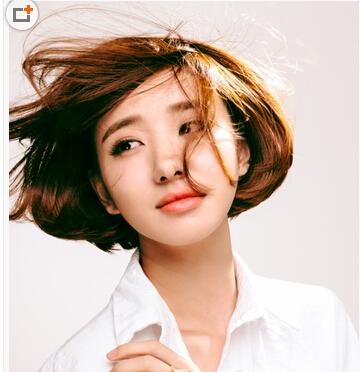 女生,头发很多而且发质硬,适合什么发型?图片
