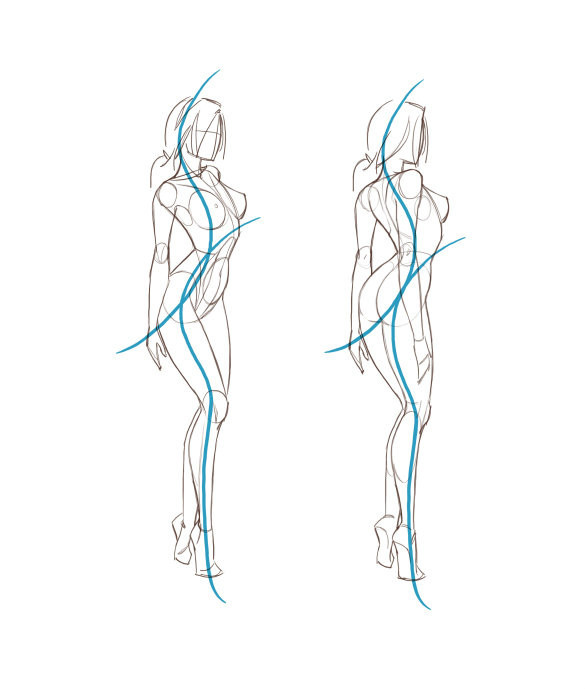 老年女性人体囹�a_求动漫人体结构图 女生的