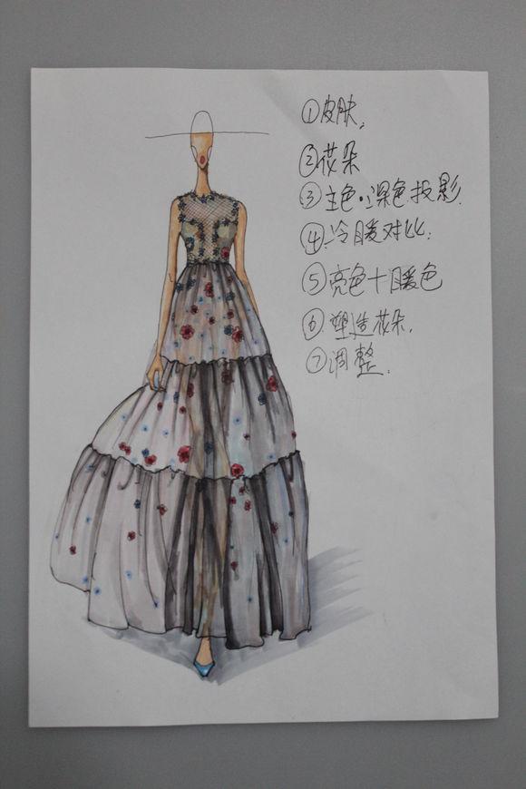 手绘服装设计图谁有?