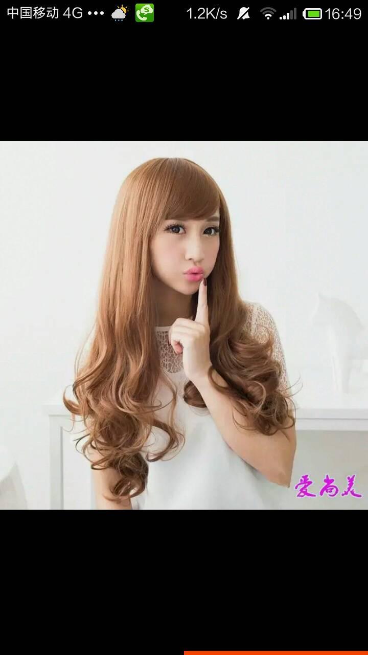 女生三七分大卷发型图片图片