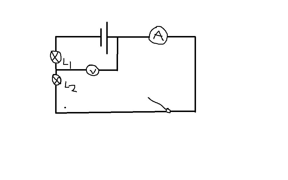 这个电路图中电压表和电流表分别测谁的电压?
