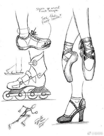 鞋子画法步骤图片