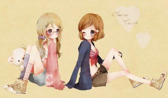 二次元姐妹合照,只要两个女生,一定要漂亮