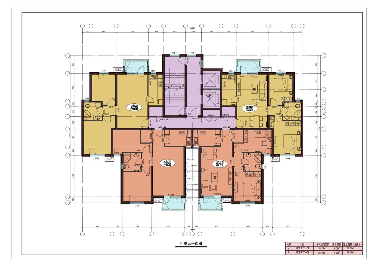 三层出租房平面设计图