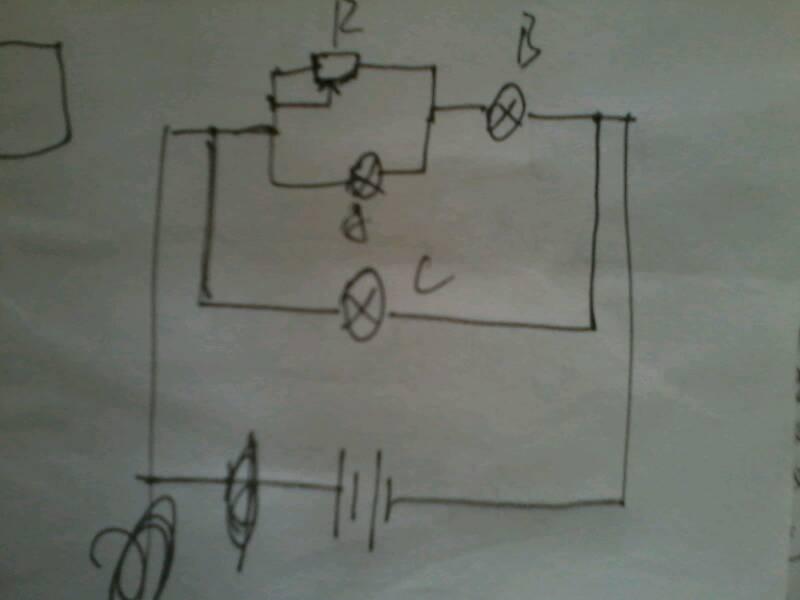 一道高中物理题,a是怎么判断的,这个电路图的简画电路
