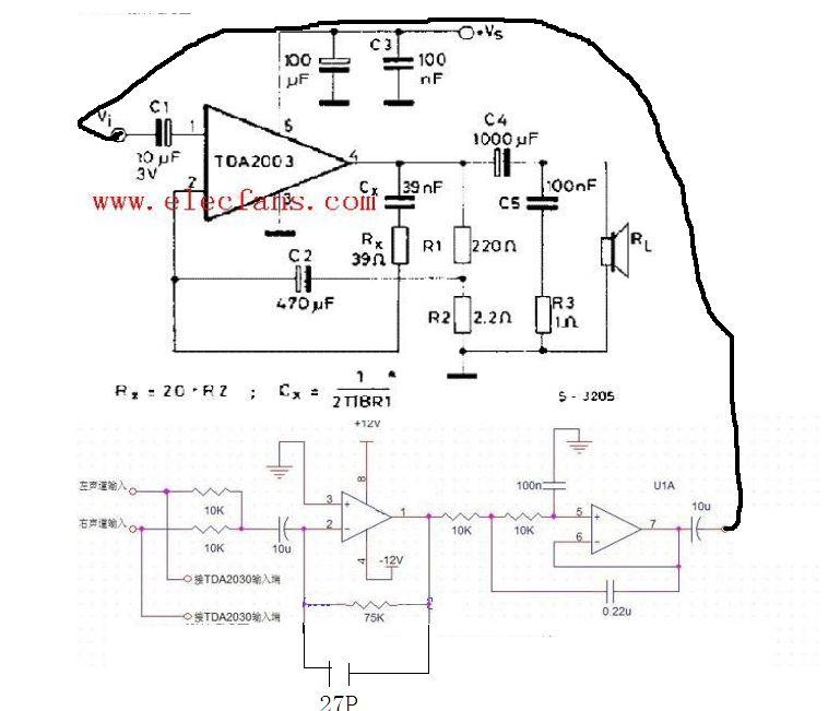 我想用ne5532 2块tda2003做成btl电路作为电脑低音炮的电路,我是菜鸟