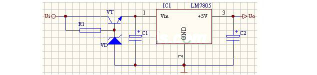 2,稳压管稳压值取20伏左右,三极管选3dd15等大功率三极管,并有做够的