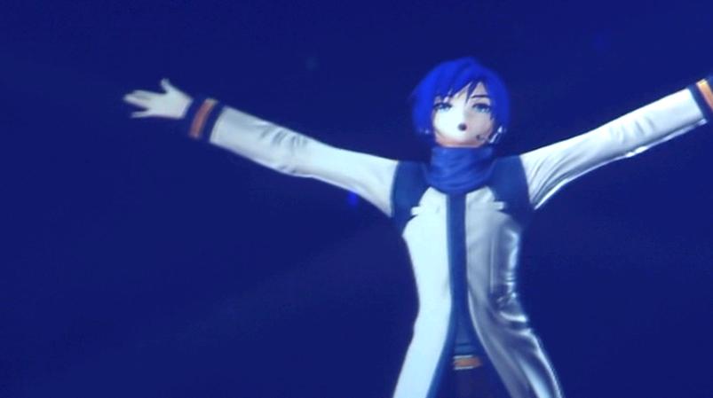 初音未来2013关西演唱会那个蓝发男的是谁
