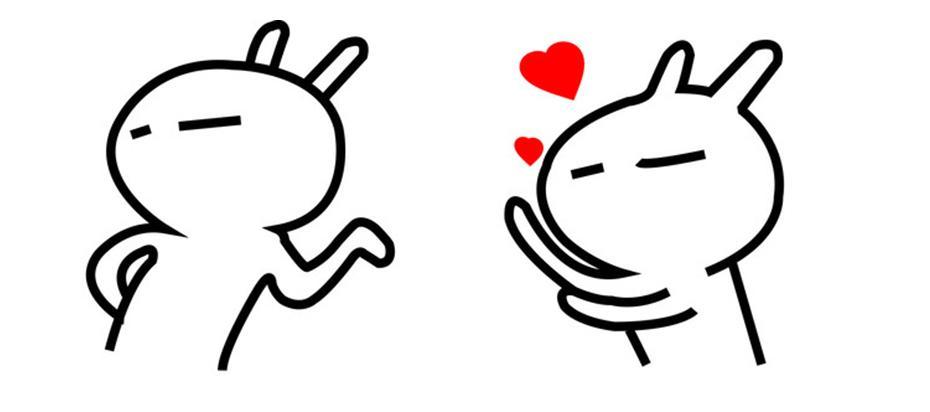 求这张照片两个兔斯基分开版,就是每个兔斯基是一张高清的图片,字不要图片