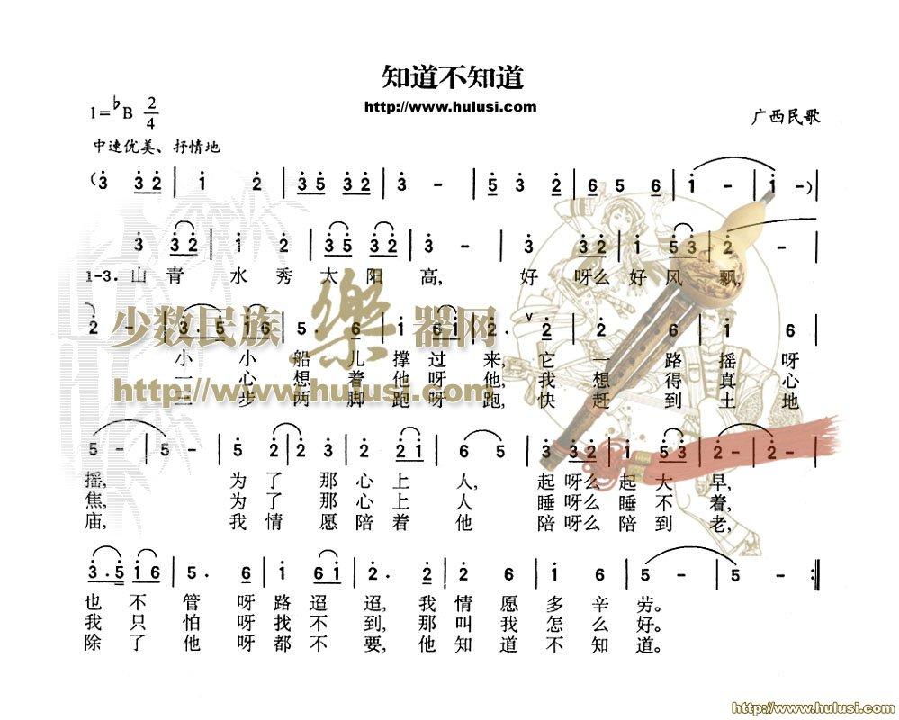 求用葫芦丝演奏的曲子简谱图片
