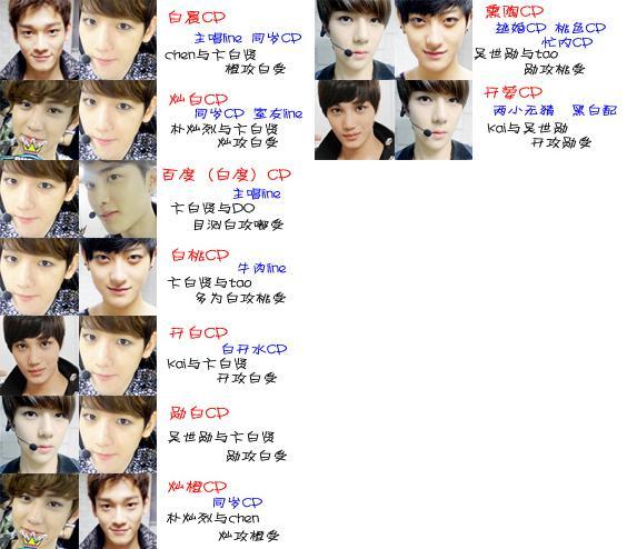exo的两人外号 如 牛桃