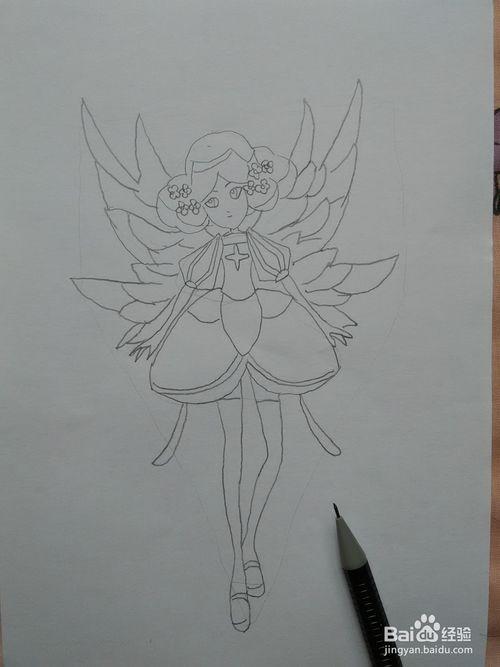 小花仙花精灵王怎么画