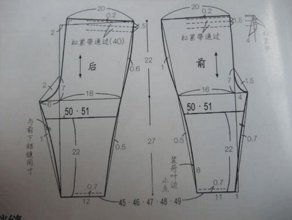 裤子锁边针法图解