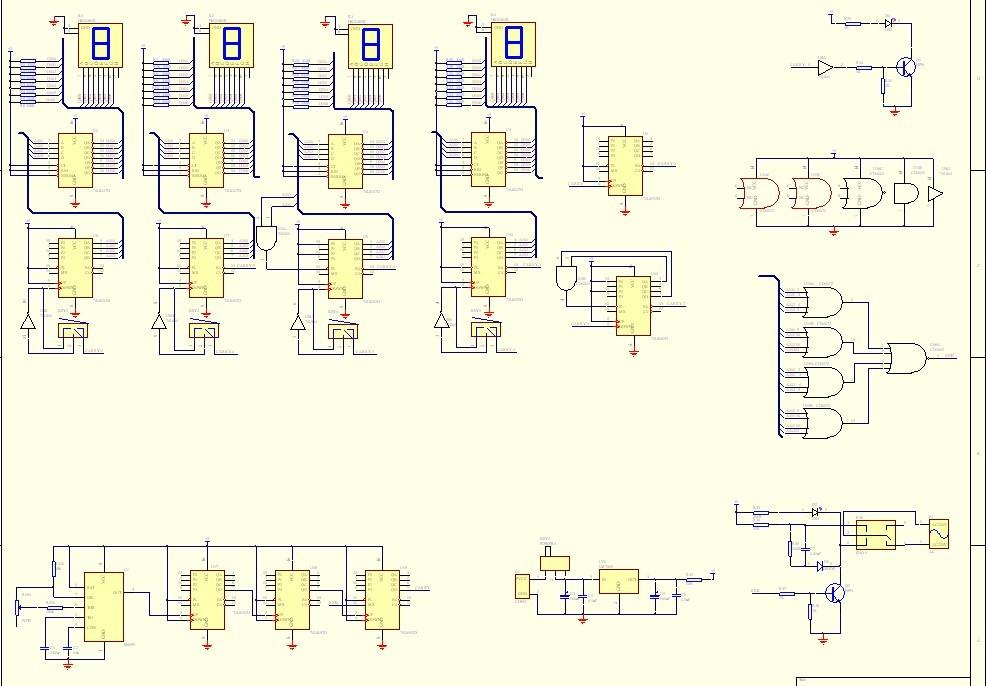 数字逻辑电路构成的数字秒表实物求购!