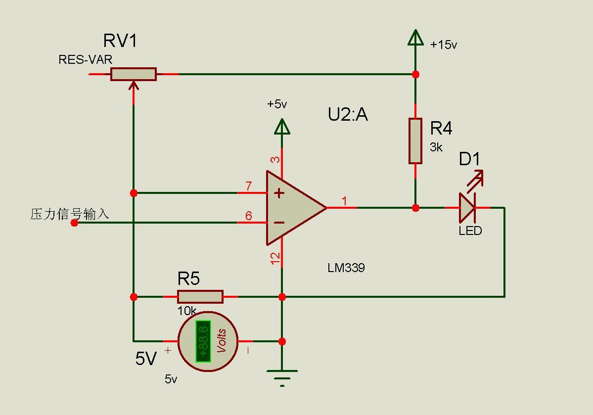 关于lm339作电压比较器的电路问题,它是不是有错?