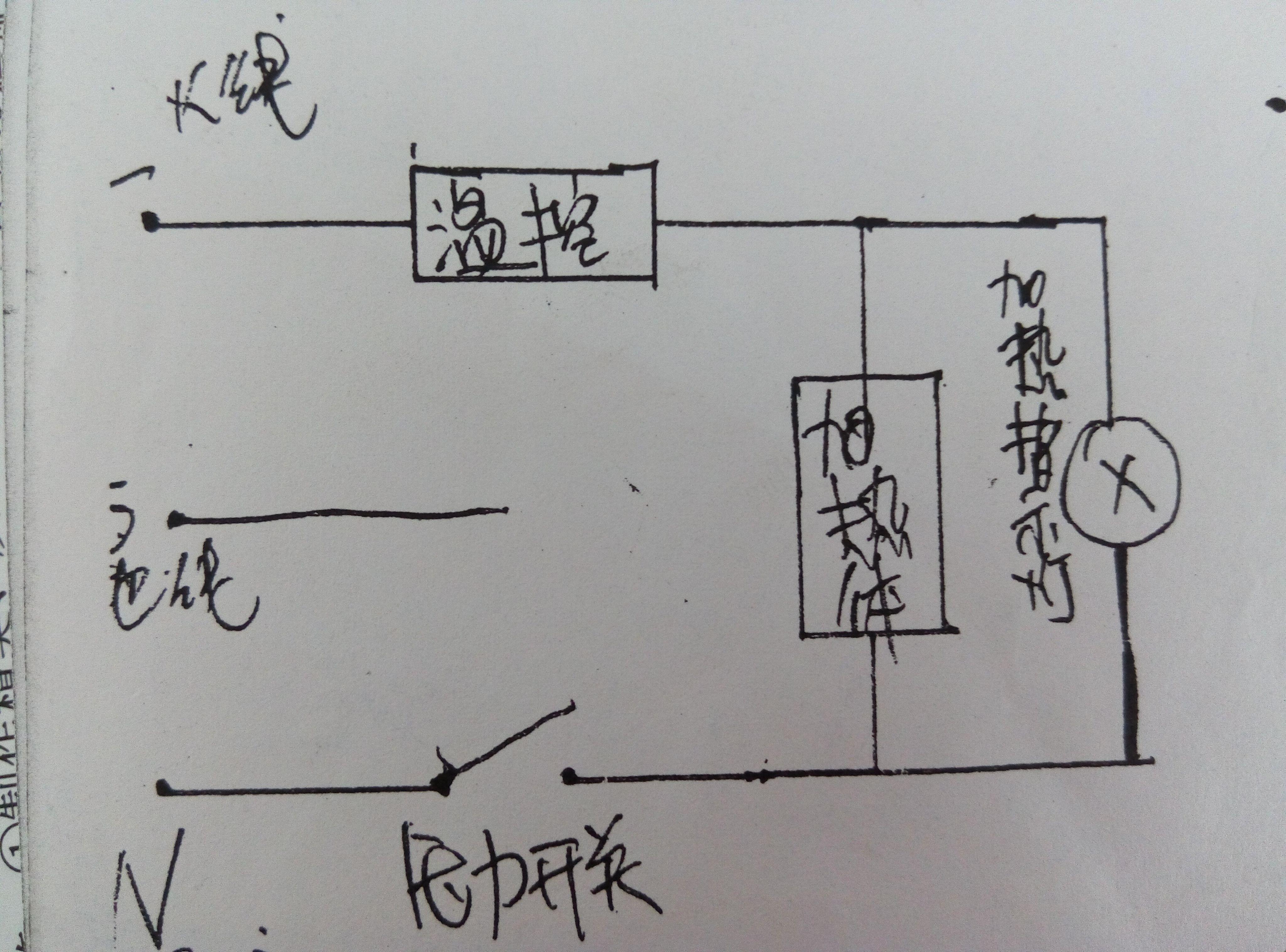 温控电路_电路图可以看出,要是温控熔断整个电路就断开了.