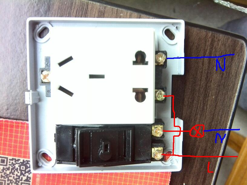 一开五孔插座怎么接,求接线图.开关控制灯具,开关与插座互不影响.