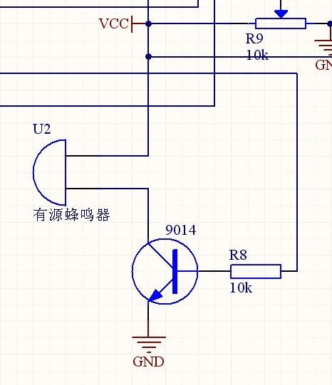有源蜂鸣器连接stc89c52单片机的电路图这样有问题么