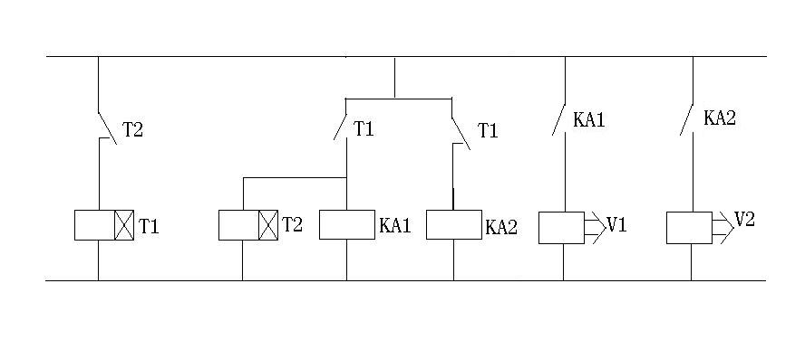 两个继电器和两个时间继电器怎么控制两个电磁阀一个10秒断开一个20秒