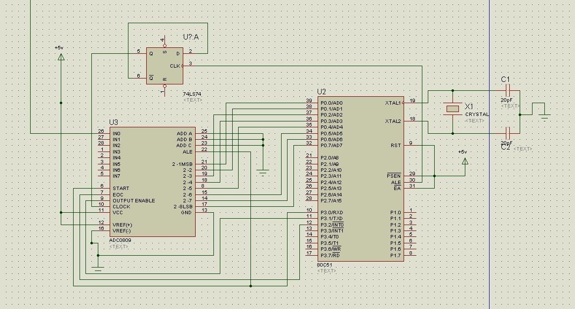 这是一个adc0809和51单片机的电路图,请各位大神帮忙看看这里的连接是