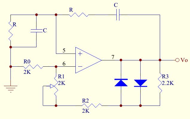 rc桥式正弦波振荡电路的放大器电压增益必须是3吗?