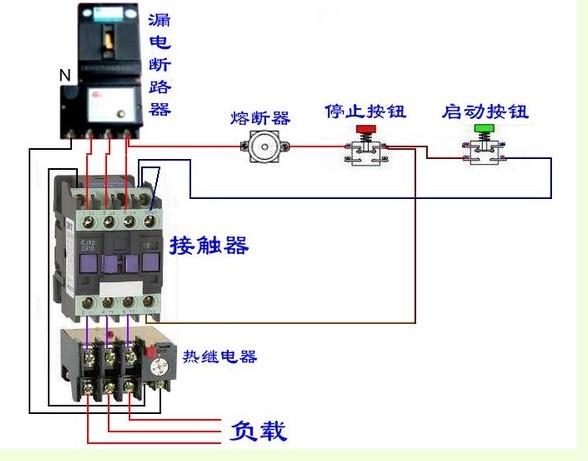这个接线图不懂原理,不嫌麻烦的说明一下.为什么n要接热继电器?