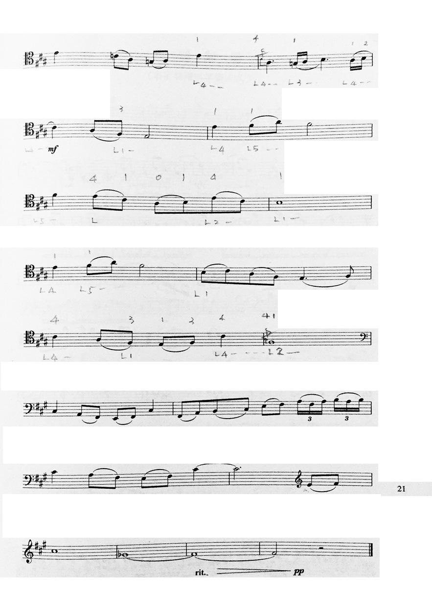大提琴独奏曲鸿雁五线谱