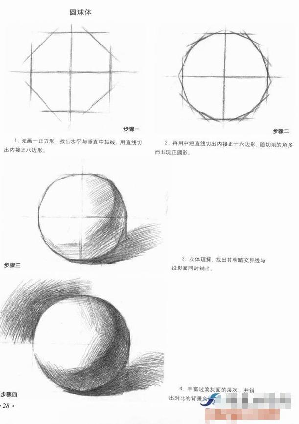 素描画圆教程图片