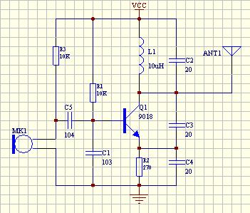 电容分压式正弦波信号产生电路