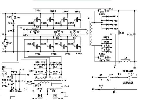 电焊机电路图