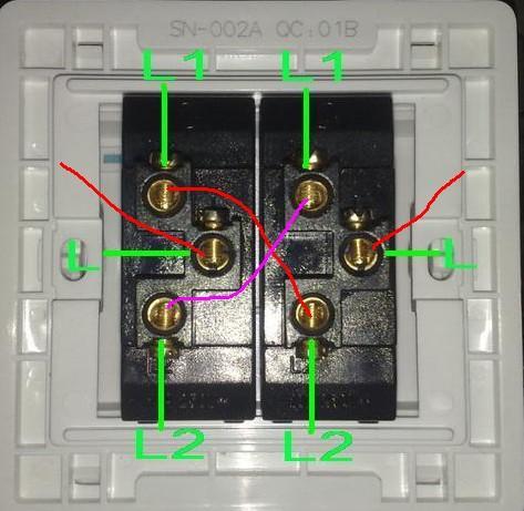 三控开关接线图实物图是什么样子的?