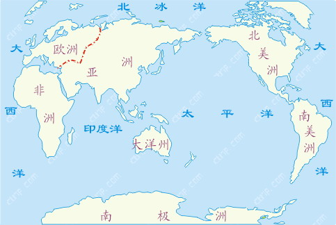 七大洲四大洋地图
