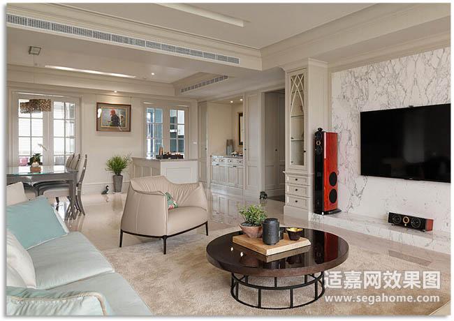 客厅走廊歺厅吊顶效果图带中央空调2015图片