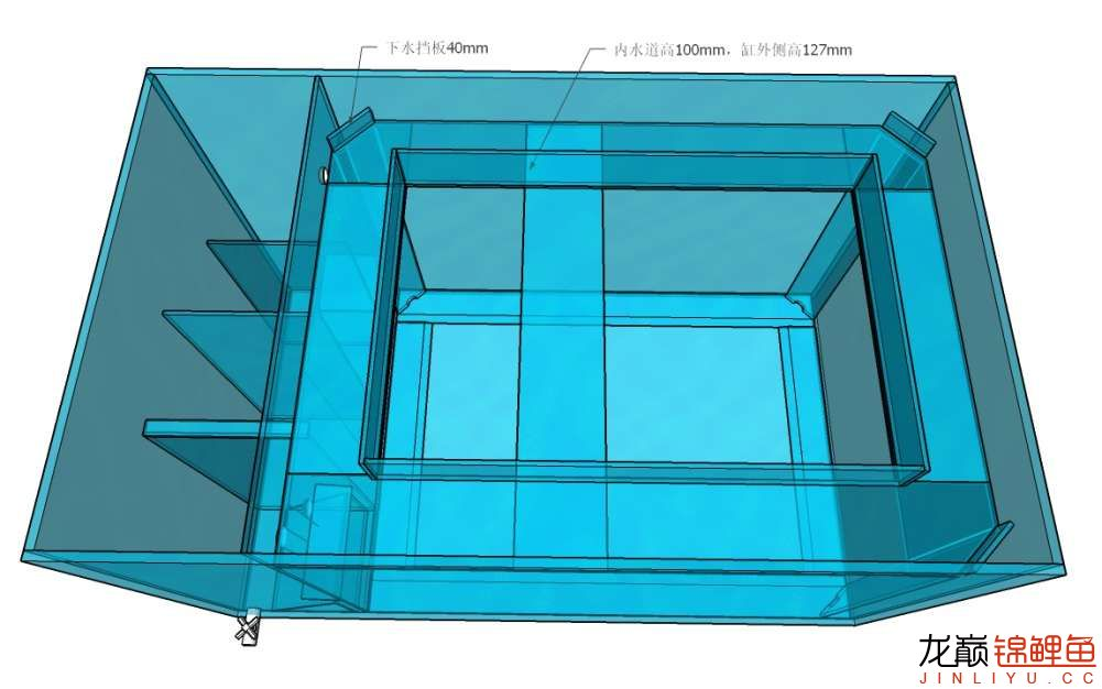 锦鲤鱼缸设计图怎么做?