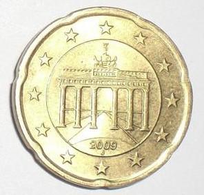 这个是德国发行的20欧分硬币.图片