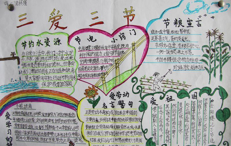 三爱三节的手抄报图片图片