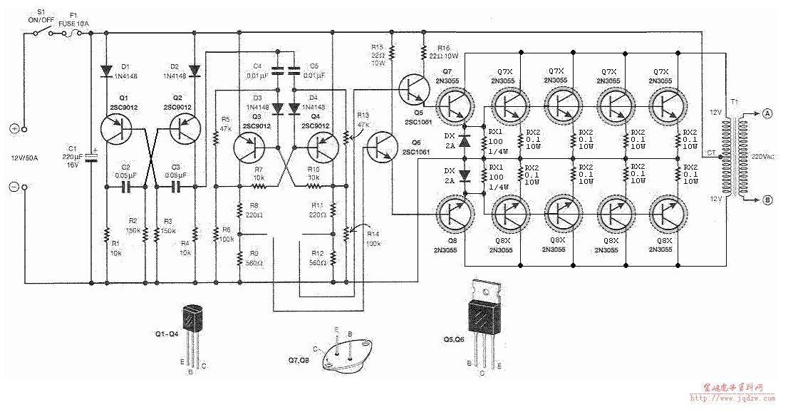 想搭个逆变电路,求一个实用的逆变电路图