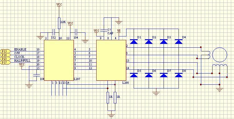 求教,两相四线步进电机驱动电路,要求能控制电机正,反转,细分等.