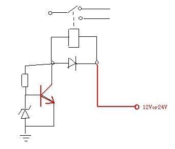 怎么自动识别输入12v/24v,求电路!