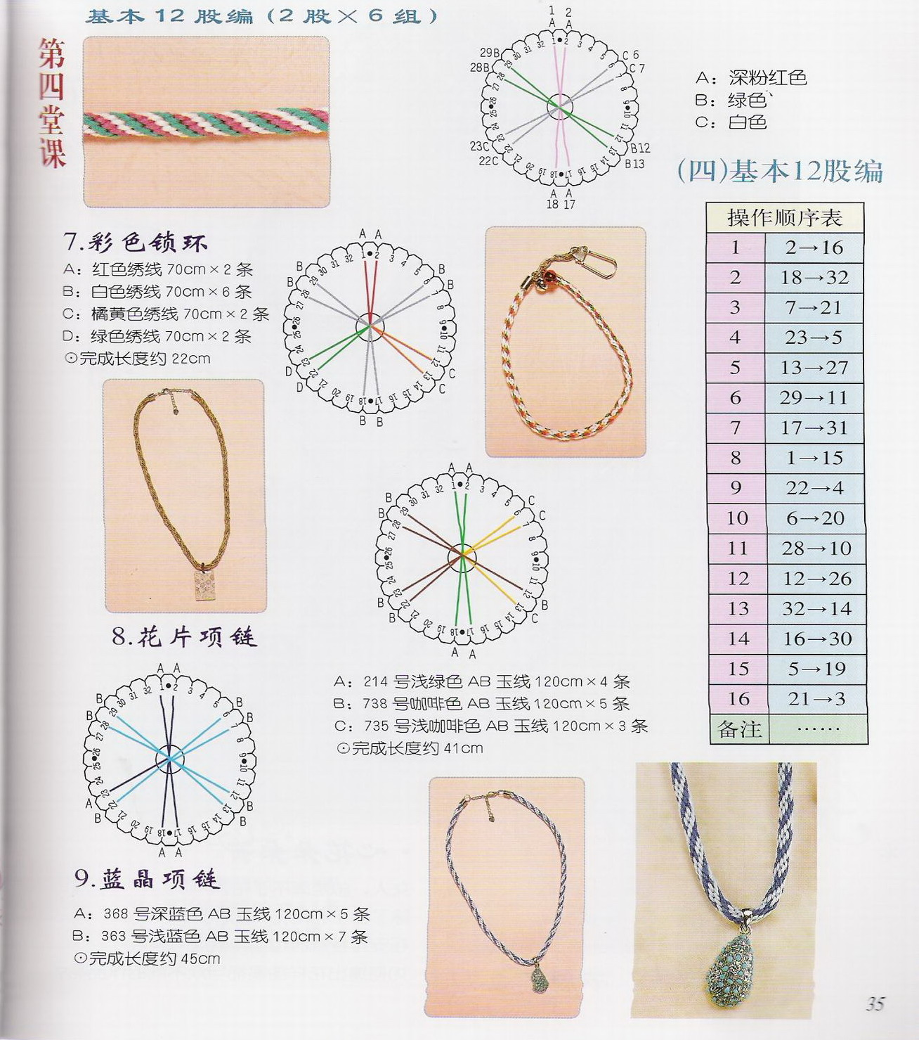 泡沫板手绳的编织方法
