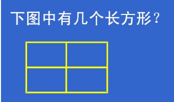 数图形中的学问 下图有多少个长方形?图片