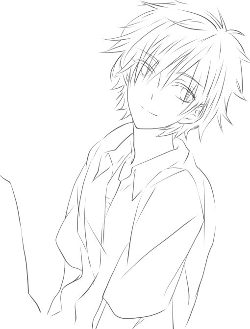 素描画人物男孩