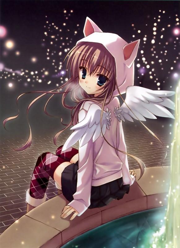 一个女孩粉红头发2个白翅膀的动漫人物是哪个动漫的