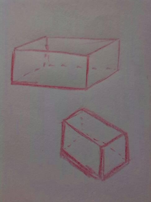 在纸上长方形的立体图怎么画?图片